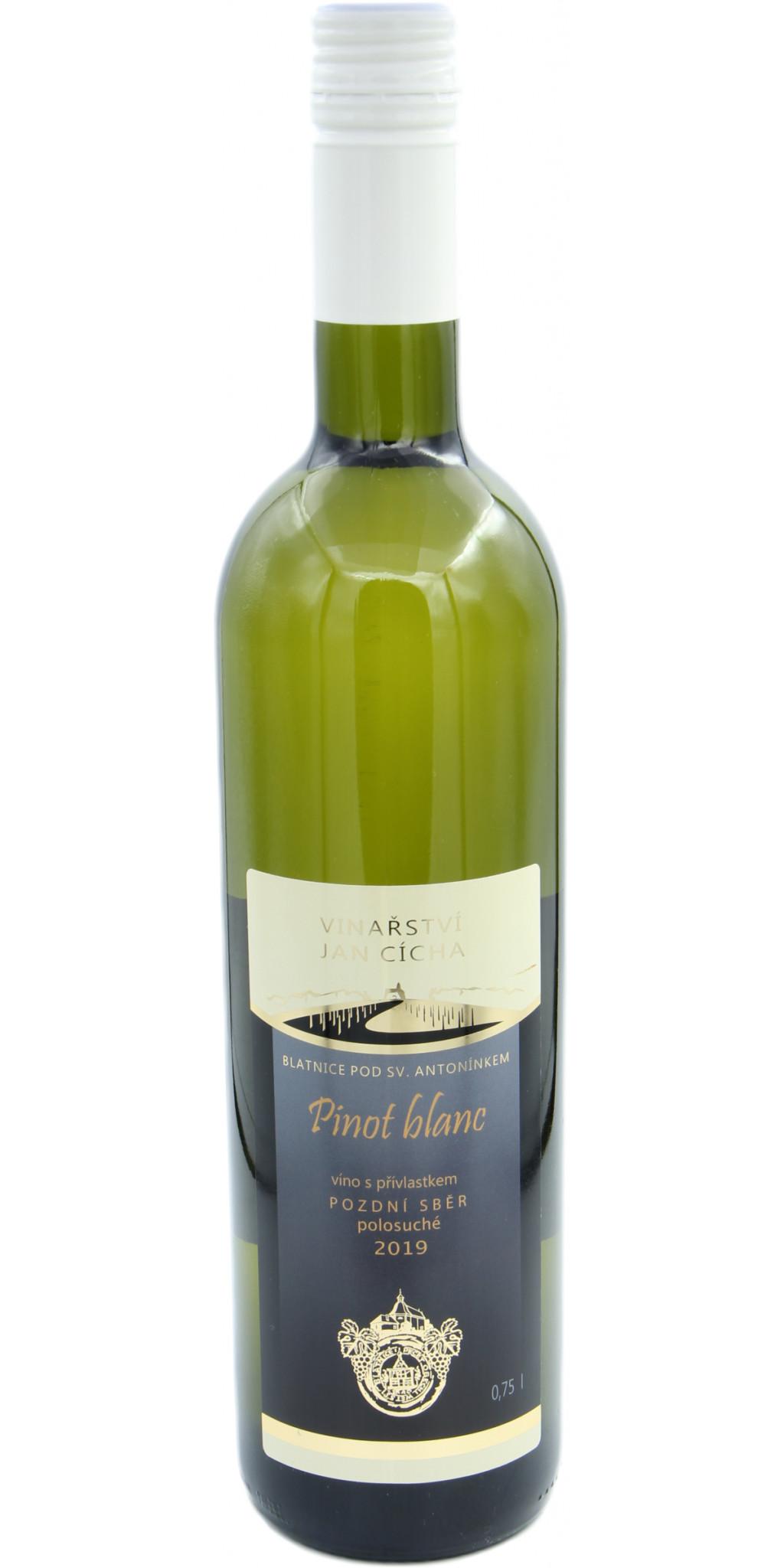 Pinot Blanc, polosuché, pozdní sběr, 2019