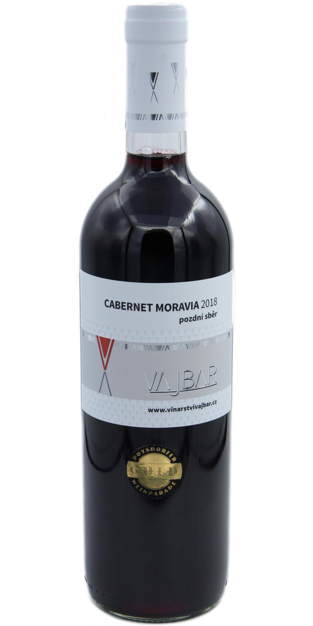 Cabernet Moravia, suché, pozdní sběr, 2018