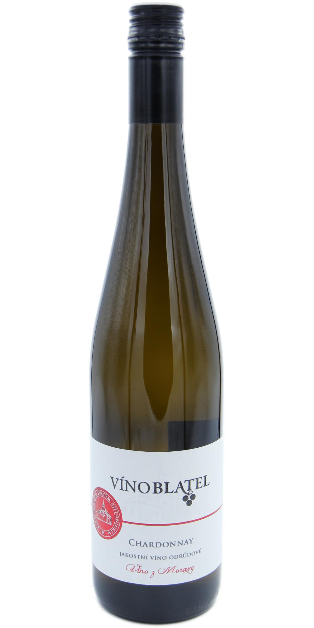 Chardonnay, polosuché, jakostní víno odrůdové
